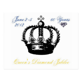 Postal 2012 del jubileo de diamante del Queens