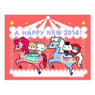 Postal 2014 del Año Nuevo del caballo