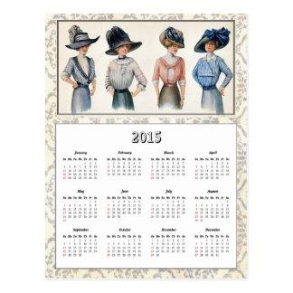 Postal 2015 del calendario de la moda de Edwardian