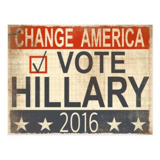 postal 2016 de la elección de Hillary Clinton del