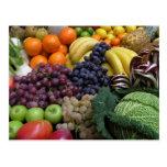 Postal 26 de la fruta y de la comida