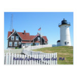 Postal #2 de Cape Cod mA del faro de Nobska