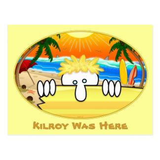 Postal 2 de Kilroy de la persona que practica surf
