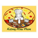 Postal 2 de Kilroy del cocinero