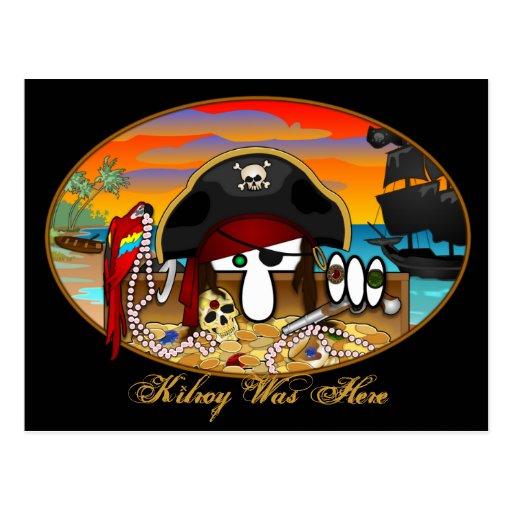 Postal 2 de Kilroy del pirata