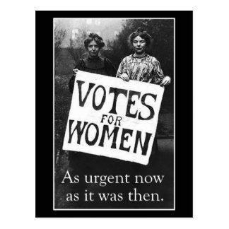 Postal 2 del voto de la vintage mujer