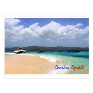 Postal 4 de la República Dominicana de la arena de