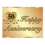 Postal - 50.o aniversario - oro