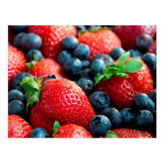 Postal 6 de la fruta y de la comida