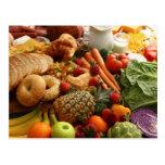 Postal 76 de la fruta y de la comida