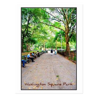 Postal 9 - Parque cuadrado de Washington, NYC