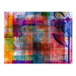 Postal abstracta artsy enrrollada del color del ar
