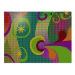 Postal abstracta colorida del diseño