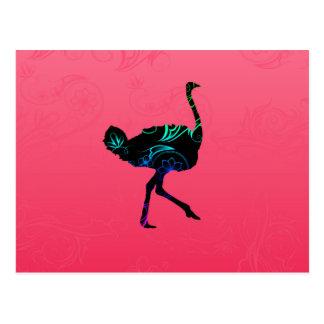 Postal abstracta de la avestruz