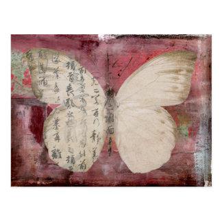 postal abstracta de la mariposa
