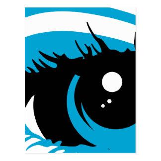 Postal abstracta del ojo