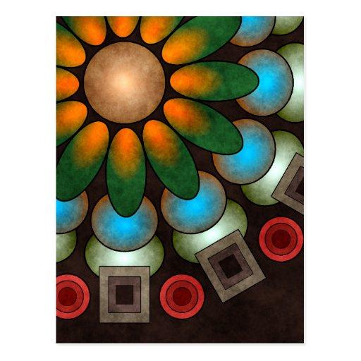 Postal abstracta floral linda del arte del vector