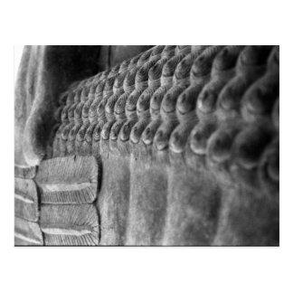 Postal adaptable asiria de la escultura el  