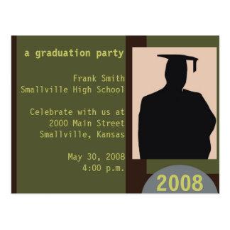 Postal adaptable de la fiesta de graduación