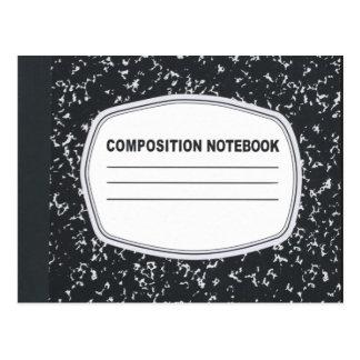 Postal adaptable del cuaderno de la composición