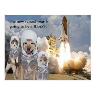 Postal adaptable del profesor por nuevo año escola