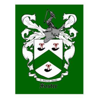 Postal adoptiva del escudo de la familia