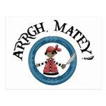 Postal afable del muchacho del pirata de Arrgh
