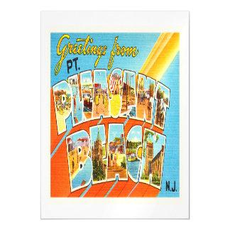 Postal agradable del vintage de New Jersey NJ de Invitaciones Magnéticas