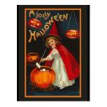 Postal alegre de la invitación de Halloween del