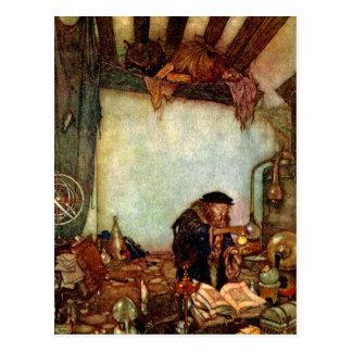 Postal Alquimista y su oro de Edmund Dulac