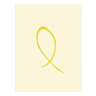 Postal amarilla de la cinta