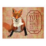 Postal ambarina del día de San Valentín del Fox