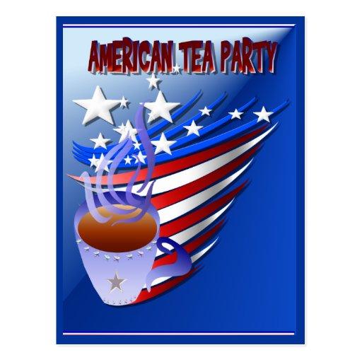 Postal americana de la fiesta del té