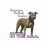 Postal americana de Terrier de pitbull (APBT) del