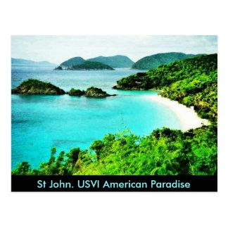 Postal americana del paraíso de la bahía del tronc