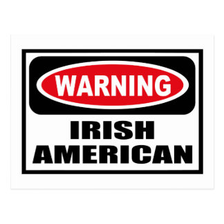 Postal AMERICANA IRLANDESA amonestadora