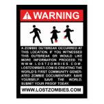 Postal amonestadora del brote del zombi