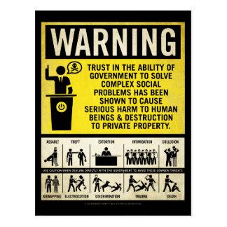 Postal amonestadora del gobierno
