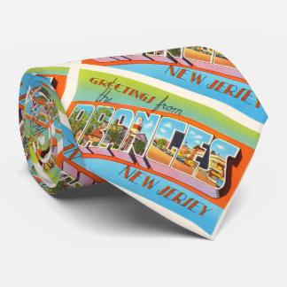 Postal anaranjada del viaje del vintage de New Corbata Personalizada