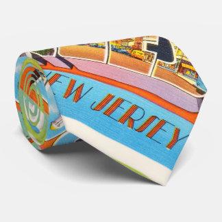 Postal anaranjada del viaje del vintage de New Corbatas Personalizadas