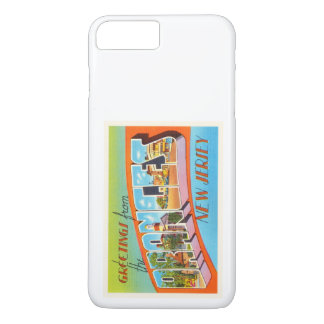 Postal anaranjada del viaje del vintage de New Funda iPhone 7 Plus