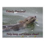 Postal anticontaminación de la nutria de mar