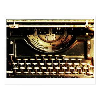 Postal antigua adaptable de la máquina de escribir