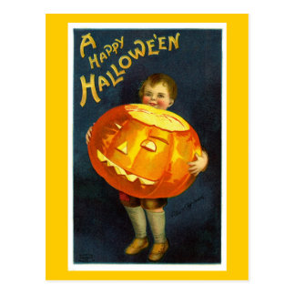 Postal antigua de Halloween JOL del vintage