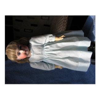 Postal antigua de la muñeca de la sopa de mariscos