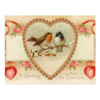 Postal antigua de la tarjeta del día de San Valent