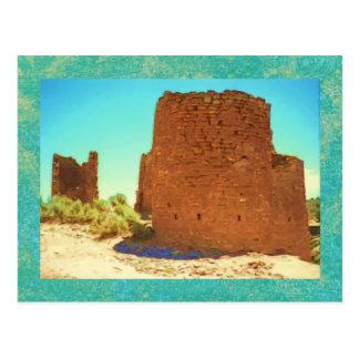 Postal antigua de las torres de Hovenweep