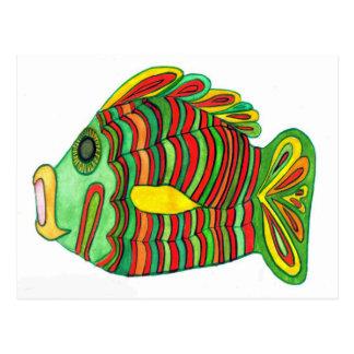 Postal antigua de los pescados del Nilo Bulti
