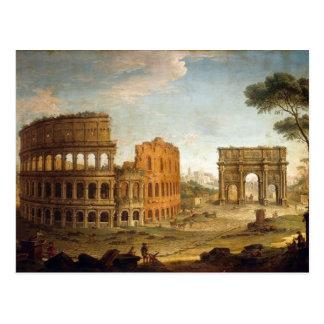 Postal antigua de Roma Colosseum