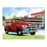 Postal antigua del camión 1954
